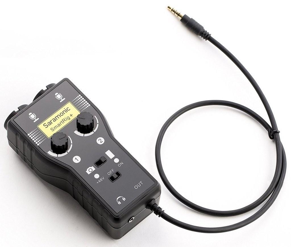 Saramonic SmartRig+  (portable microphone/guitar interface)