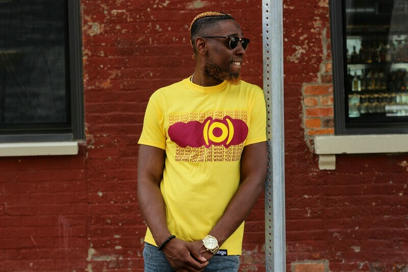 GO(O)D Repetitive tee-yellow/maroon