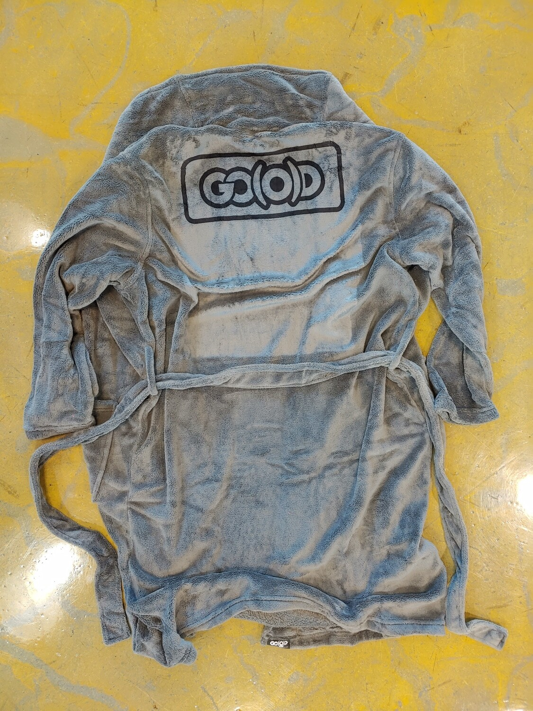 GO(O)D Inbox Plush Robe-charcoal/black