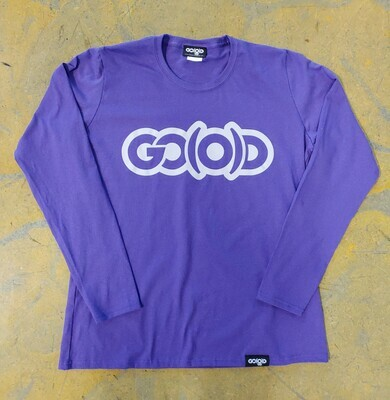 Women's GO(O)D Classic long sleeve tee-purple/gray
