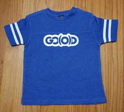 GO(O)D Toddler Fine Jersey Tee-royal/white