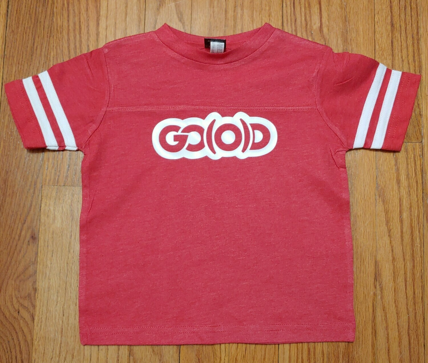 GO(O)D Toddler Fine Jersey Tee-red/white