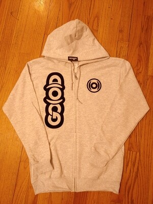 GO(O)D Dual Logo Zip Up Jacket-grey/black *Made To Order*