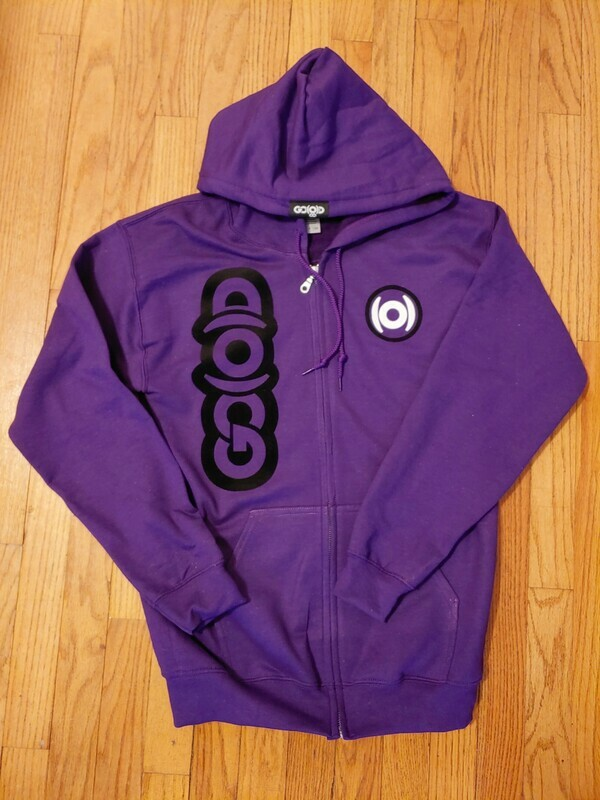 GO(O)D Dual Logo Zip Up Jacket-purple/black/white *Made To Order*