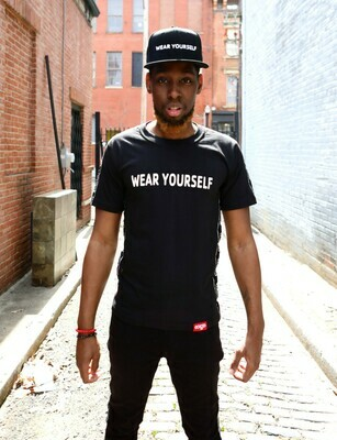 WEAR YOURSELF Premium Tee *LIMITED COLLECTION* Black/White logo