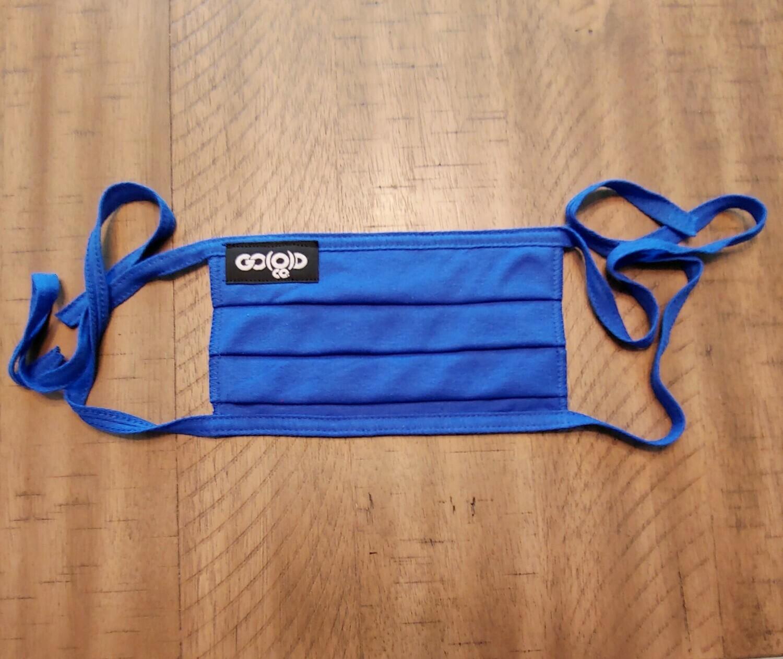 GO(O)D Pleated Mask/Tag logo-royal