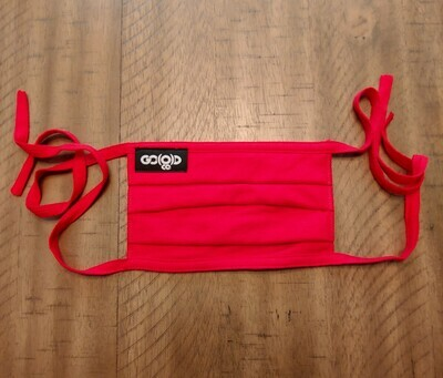 GO(O)D Pleated Mask/Tag logo-red