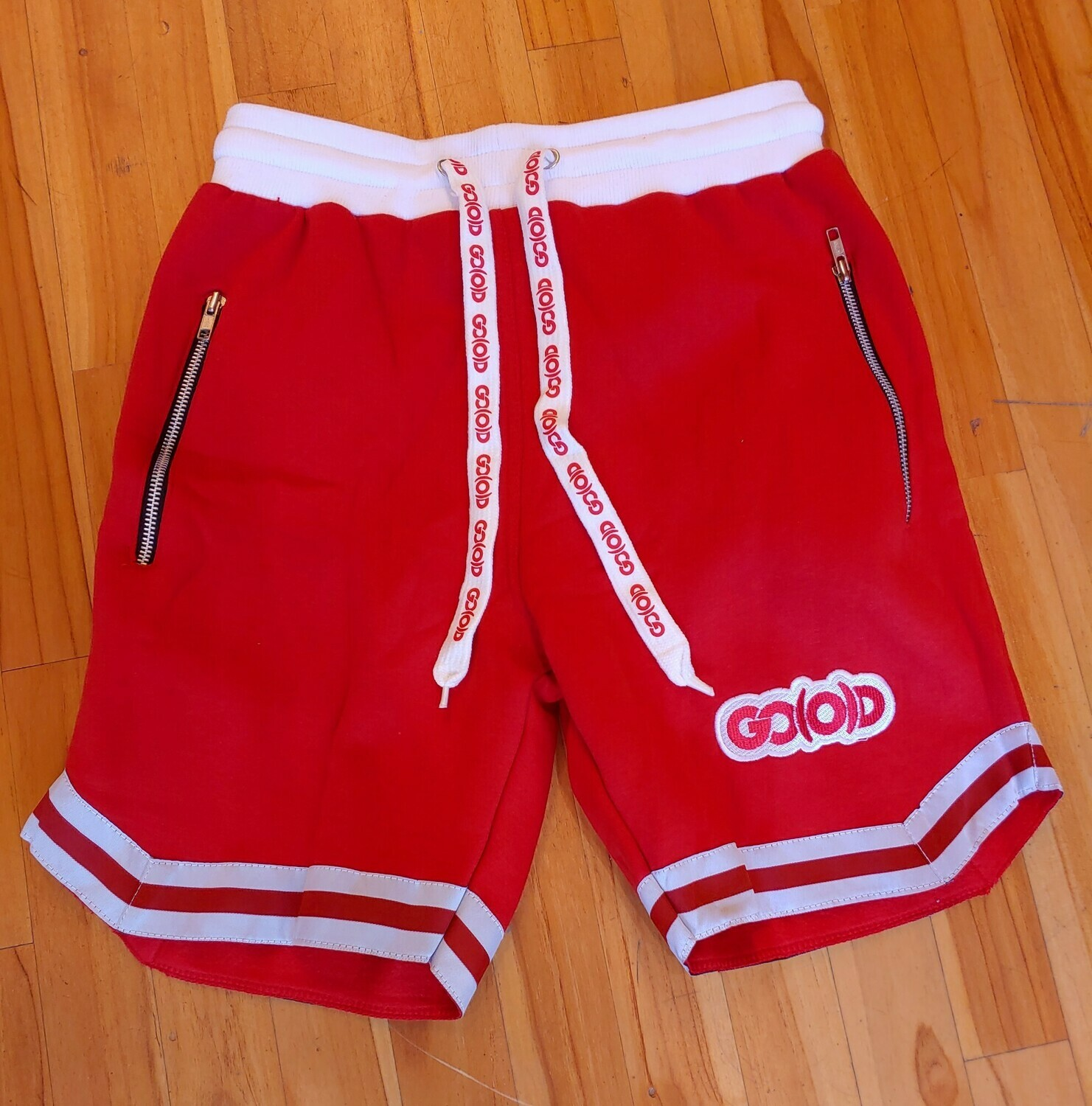 GO(O)D Wave Shorts-red/white (runs about 1 size small)