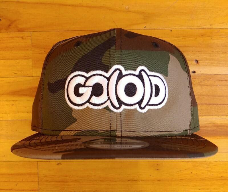 GO(O)D Company x New Era Snapback-camo/white/black logo