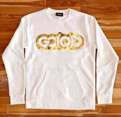 Flex Sweatshirt-white/gold foil logo