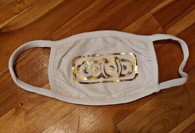 GO(O)D Inbox Logo Mask-white/gold foil logo