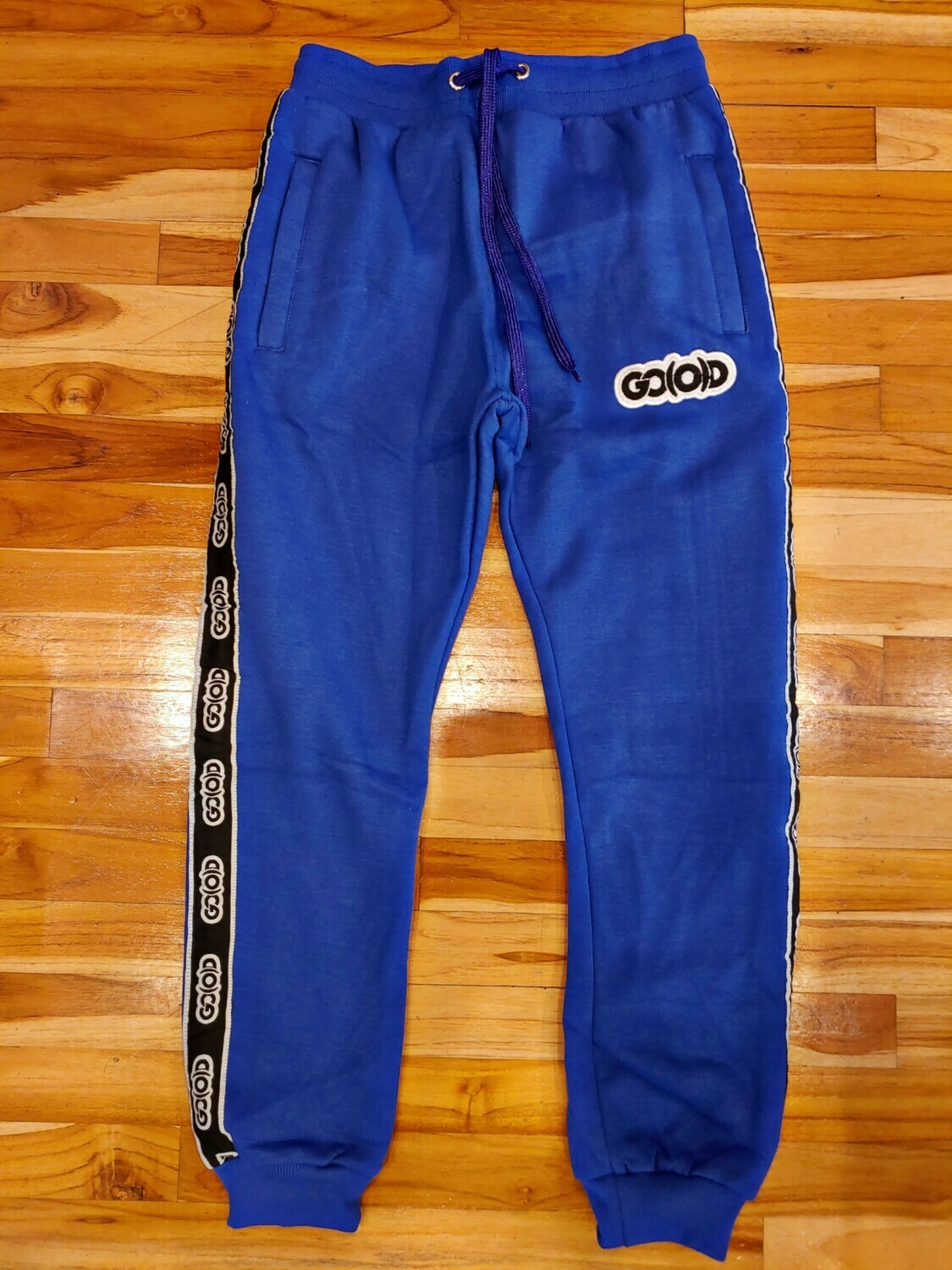 GO(O)D Strip Joggers-loyal royal/black/white