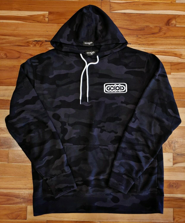 Inbox Logo Black Camo Hoodie-white logo