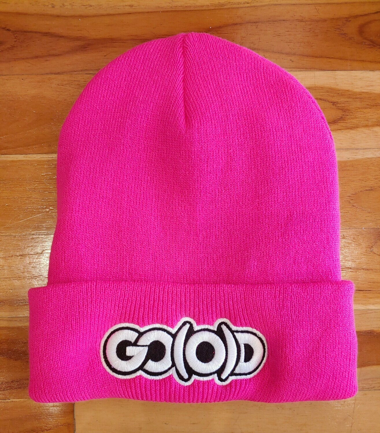 GO(O)D Beanie-hot pink/white