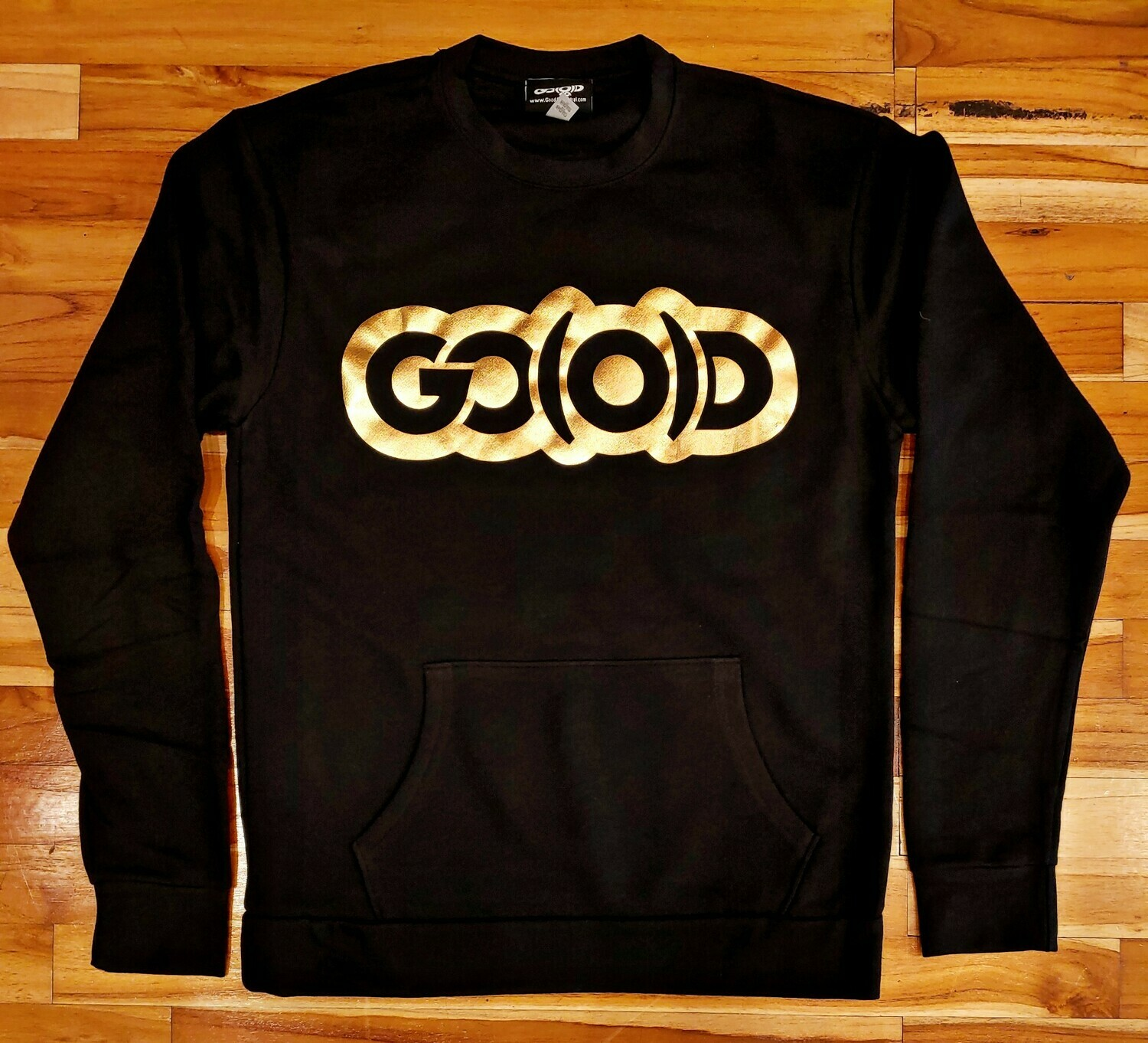 Flex Sweatshirt-black/gold foil logo