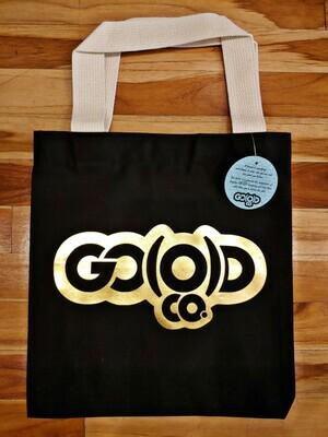 GO(O)D Express Tote Bag-black/gold foil logo