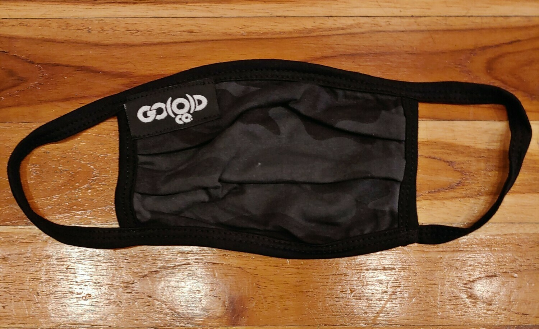 GO(O)D Pleated Mask-black camo