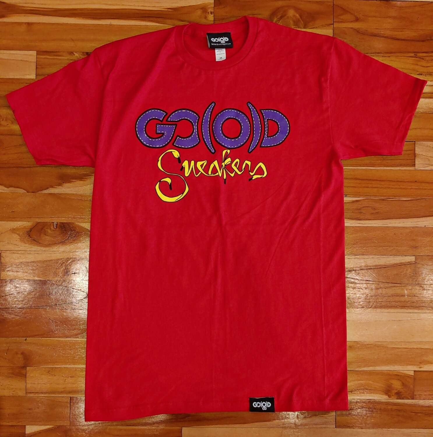 GO(O)D SNEAKERS TEE-red/purple/yellow