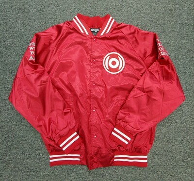 GO(O)D Dual Logo Throwback Jacket-red/white *MADE TO ORDER*
