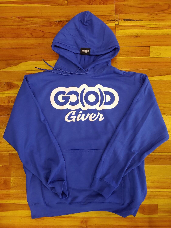 GO(O)D Giver Hoodie-royal/white logo