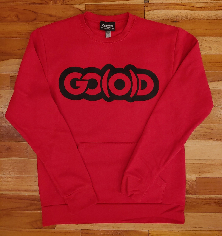 Flex Sweatshirt-red/black logo