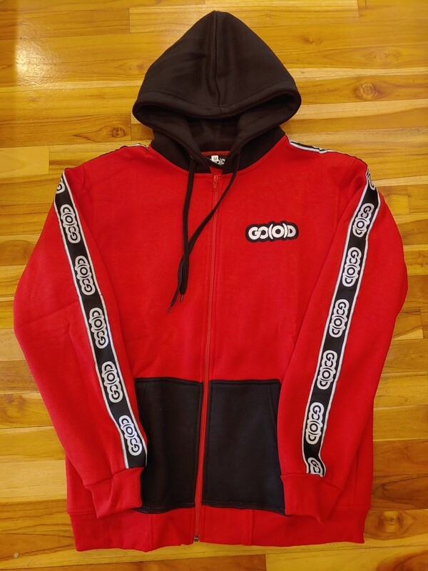 Rich Red Strip Jacket-red/black/white