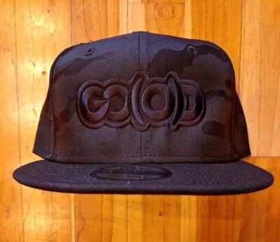 GO(O)D Company x New Era Snapback-black camo/black logo