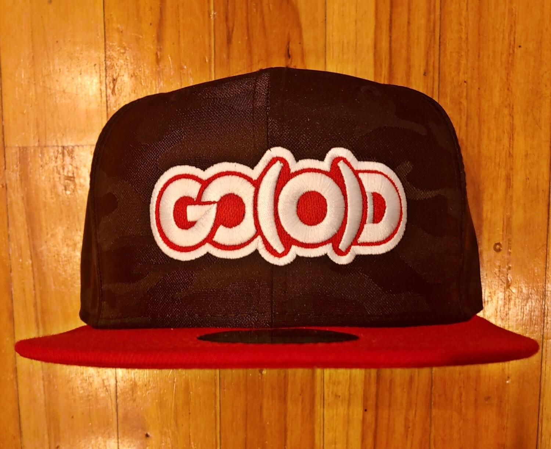 GO(O)D Company x New Era Snapback-black camo/red/white