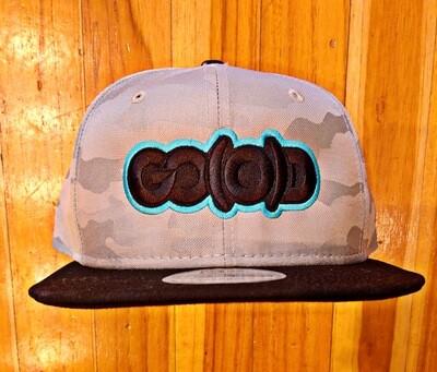 GO(O)D Company x New Era Snapback-silver camo/black/aqua