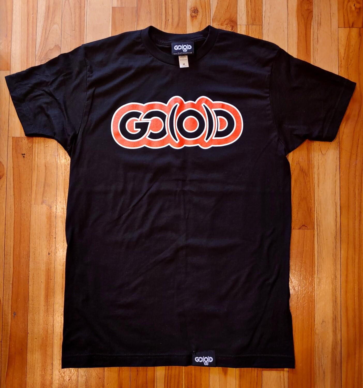 GO(O)D Classic Outline Tee-black/orange/white
