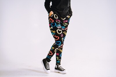 Women's GO(O)D LOVE joggers-black multi-color