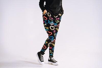 Women's GO(O)D LOVE joggers-black multi-color