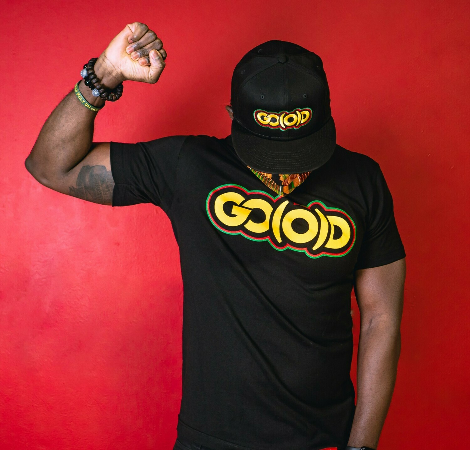 GO(O)D History tee-black/yellow/red/green