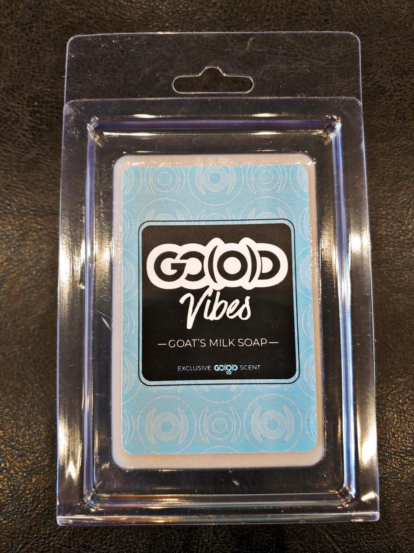 "GO(O)D Goats Milk Soap-4 oz. bar- Scent ""GO(O)D VIBES"""