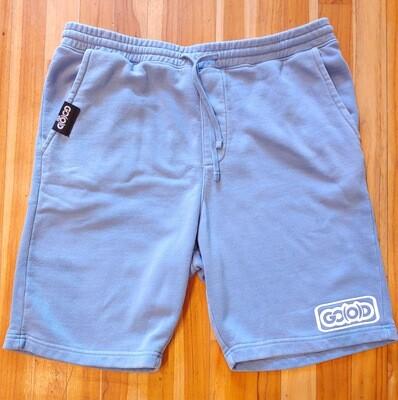 Lifestyle Shorts-baby blue/white inbox logo
