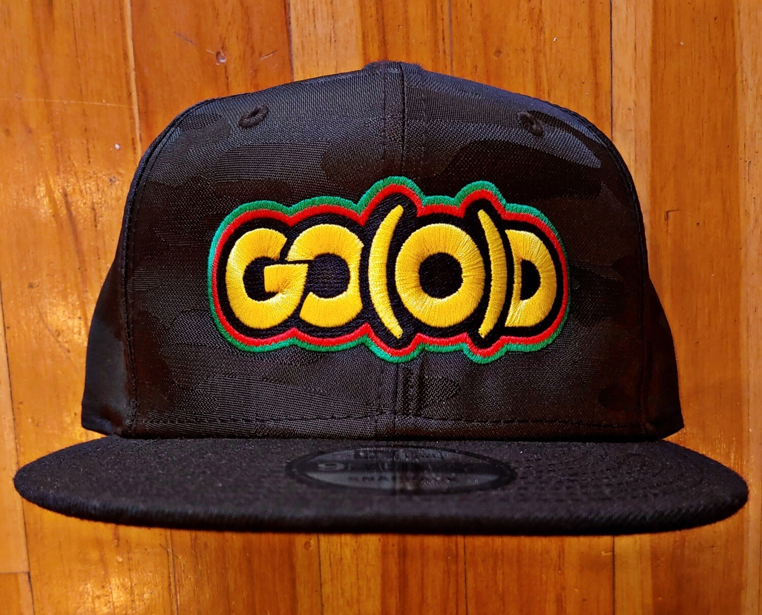 GO(O)D HISTORY Snap Back-black camo print/yellow/red/green
