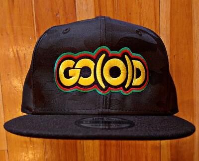 GO(O)D HISTORY Snapback-black camo print/yellow/red/green