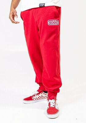 Clutch Joggers-red/white inbox logo