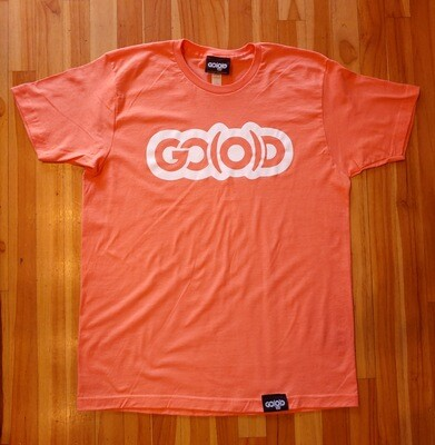 GO(O)D Classic Tee-coral/white