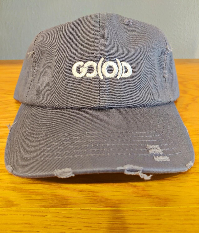 GO(O)D Distressed Dad Hat-scotland blue