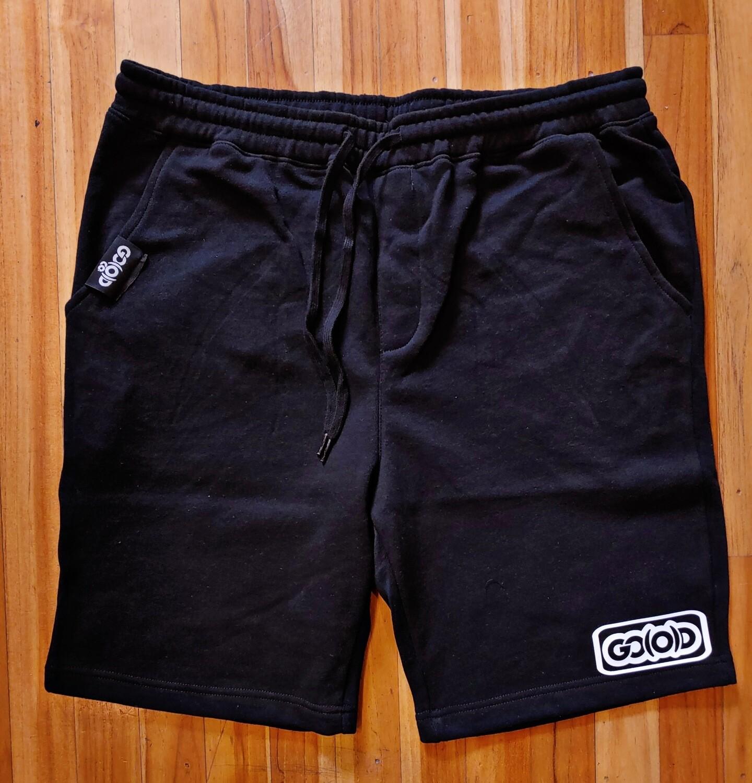 Lifestyle Shorts-black/white inbox logo
