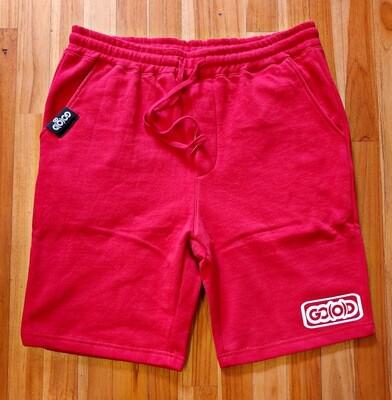 Lifestyle Shorts-red/white inbox logo