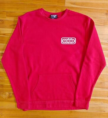 Lifestyle Pocket Sweatshirt-red/white inbox logo