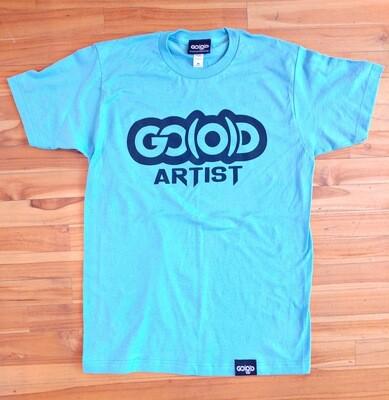 GO(O)D ARTIST Tee-aqua/black