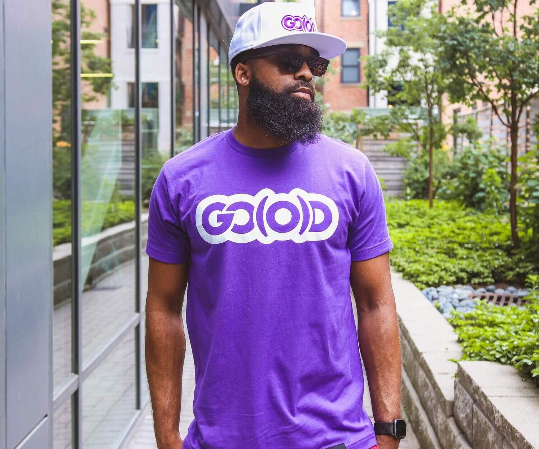 GO(O)D Classic Tee-purple/white logo
