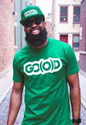 GO(O)D Classic Tee-kelly green/cream logo
