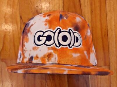 GO(O)D Snapback-orange/white/navy tie dye