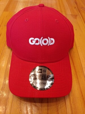 GO(O)D Company x New Era Structured Hat-red/white logo