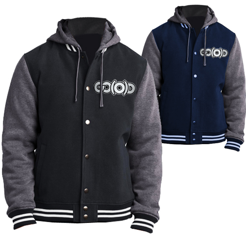 Men's GO(O)D varsity Coat with detachable hood *Made To Order*