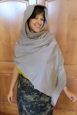 'Survival Shield' Merino Wool RF/Microwave Shielding Shawl/Scarf - Absolutely Beautiful, Hand-Made Design!
